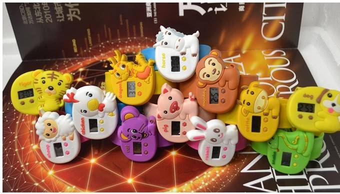 popular 12 animal Zodiac Slap Watch, Cute Digital Zodiac Watch for Kids