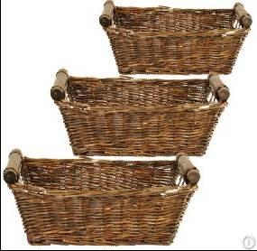 Home storage rectangle wicker baskets hamper