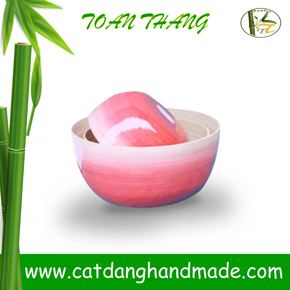 High quality Vietnam coiled bamboo bowl safe for food