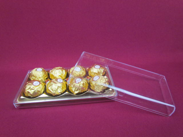 clear plastic biscuit/snack packaging box/chocolate box made in China