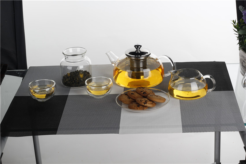 25OZ high borosilicate glass teapot