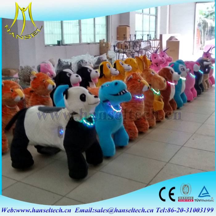 Hansel children funfair plush electric animal scooters in mall