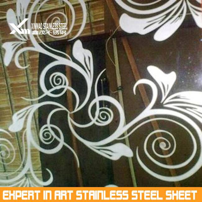201 4x8 Color etching stainless steel sheet made in China