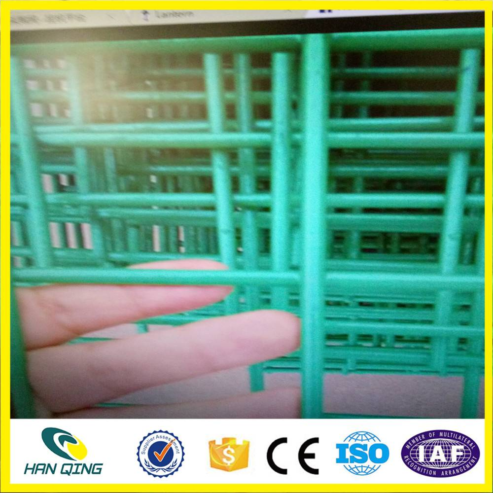 1.6mm wire with 50mmX50mm opening pvc coated welded wire mesh panel