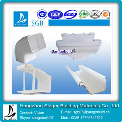 pvc rain collector protect wall for roofing system from china