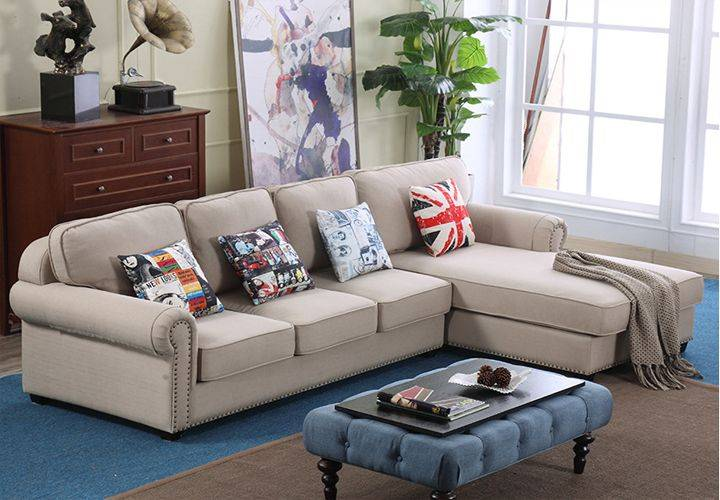 American Style Fabric Sectional Sofa