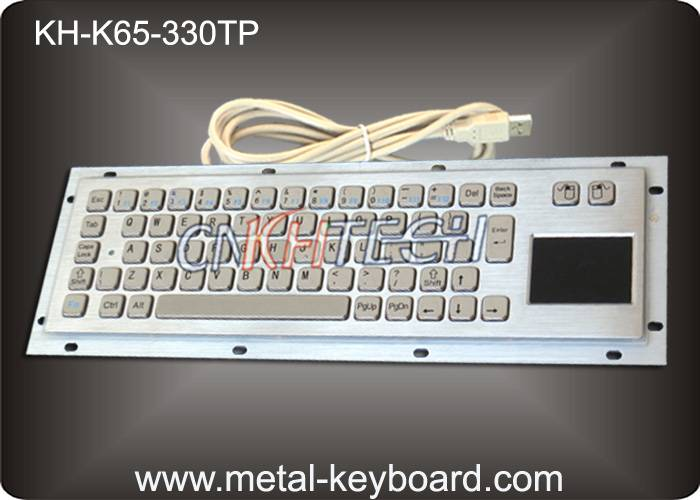 KH-K65-330TP Vandal proof industrial Computer Kiosk keyboard with Stainless steel panel mount