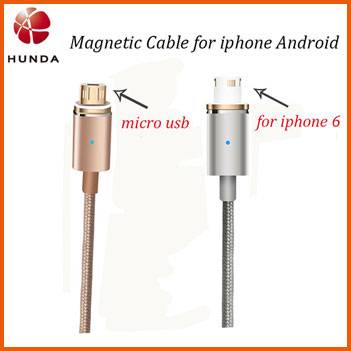 120CM Nylon Braided Fast Charging Magnetic Data Cable for iphone