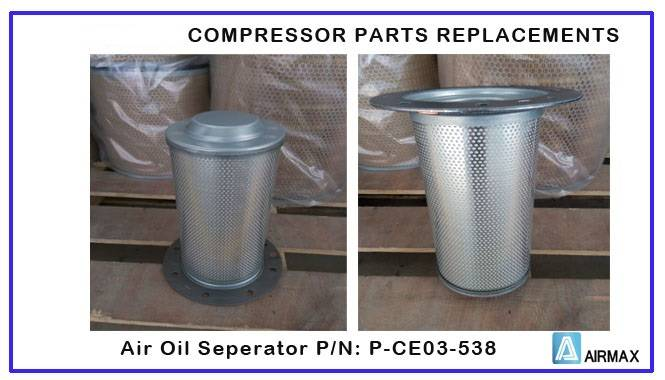 Compair compressor air filter,Oil filter, Oil separator