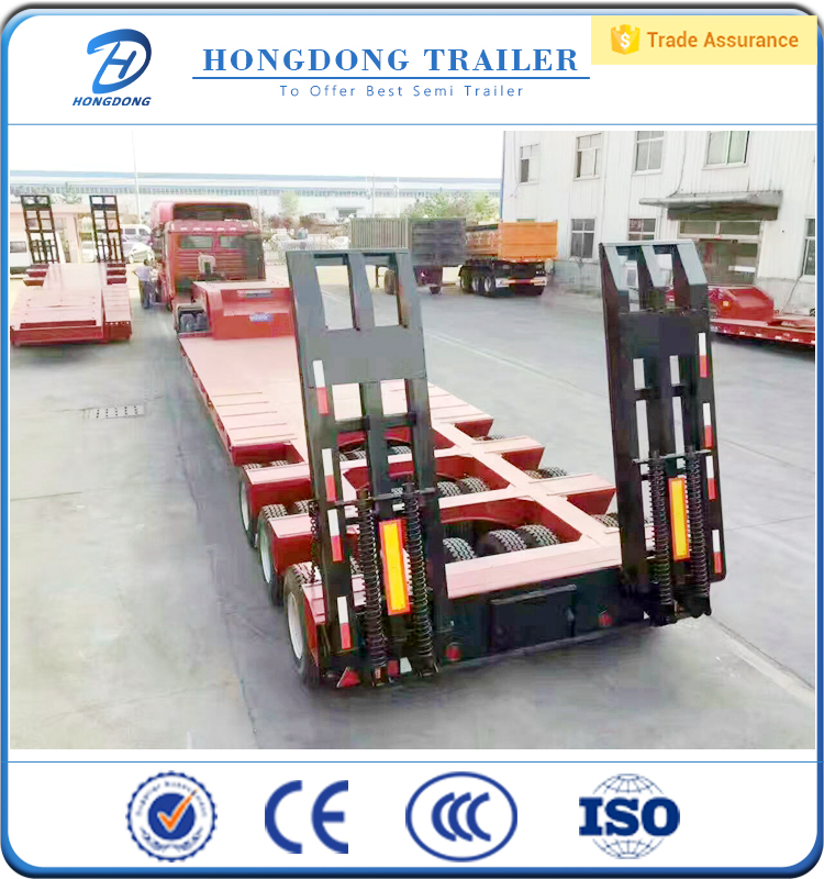 Quality assurance 3 Axle 13M Lowbed Semi Trailer