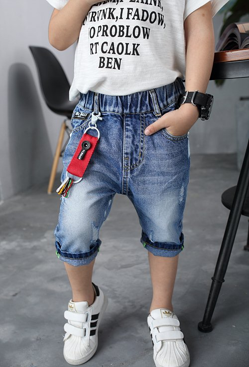 Loose & Elastic Boys Jeans Factory &Exporter