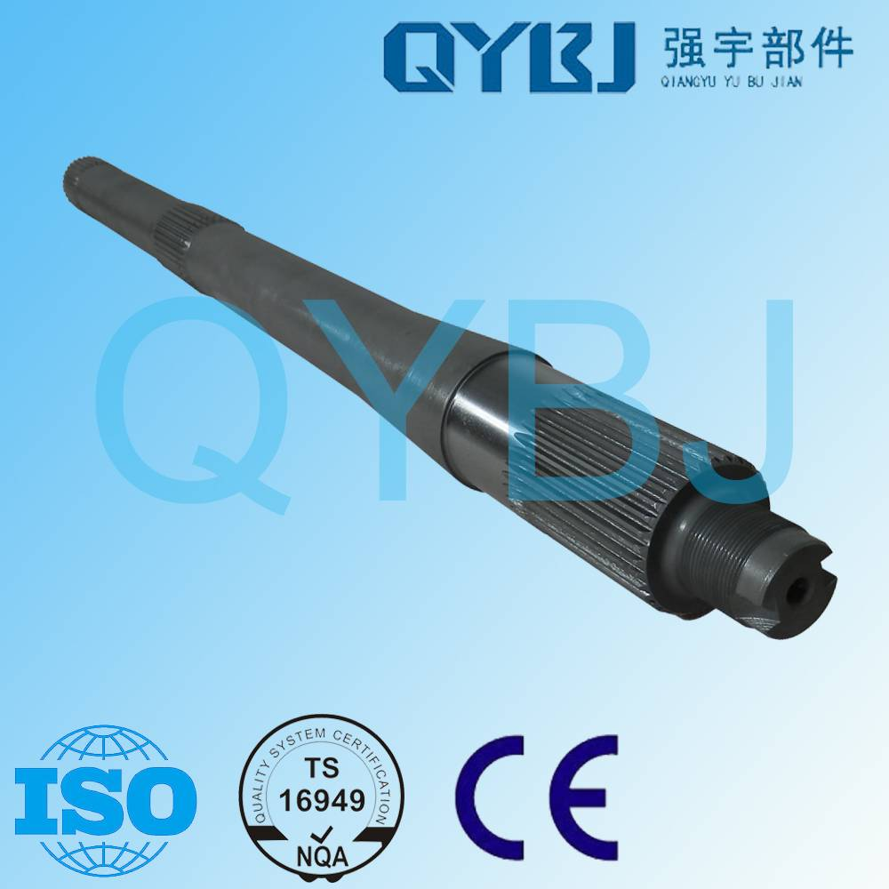 Reliable tractor parts shaft manufacturer steel materials rear axle though shaft /tandem axle