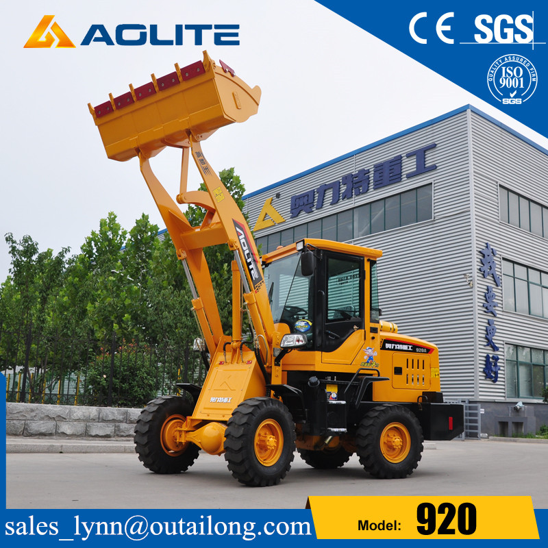 Construction Machinery Factory Mini Wheel Loder With Joystick For Sale
