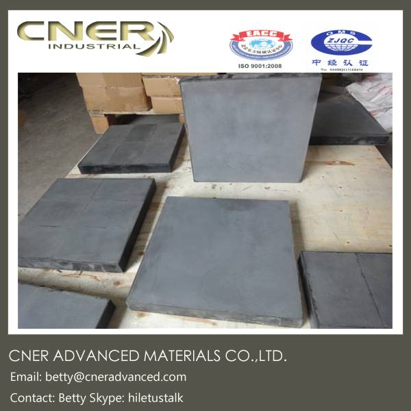 High temperature sintered silicon carbide rubber wear resistant panel