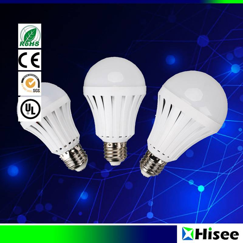 Intelligent rechargeable emergency LED bulb light
