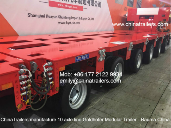 300Tons Heavy Duty Goldhofer Hydraulic Multi-axle Low Bed Modular Trailer