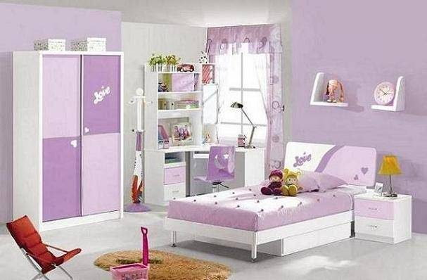 MDF Panels Kids Bedroom Set