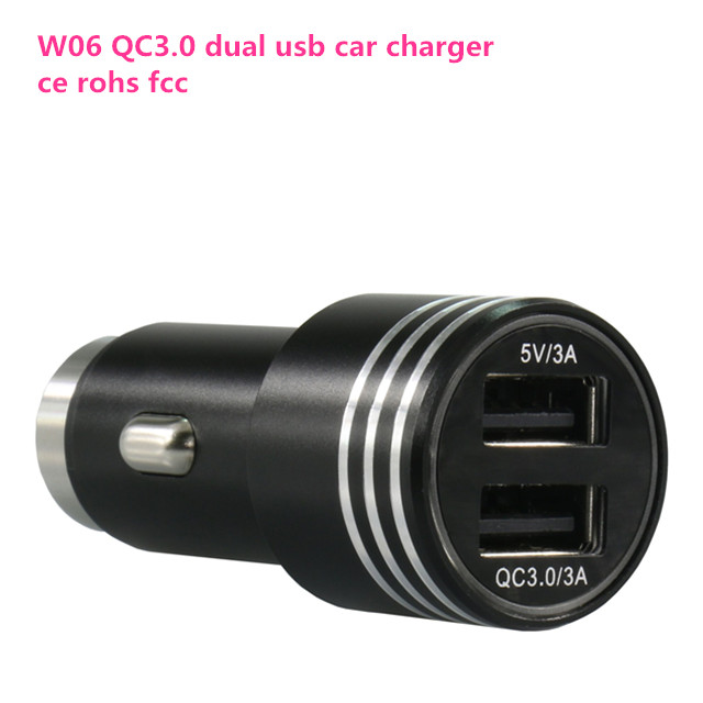 Wholesale best price top quality dual usb QC 3.0 quick car charger with lcd display