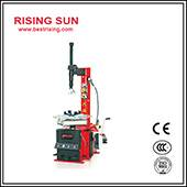Semi automatic swing arm tire changer for garage