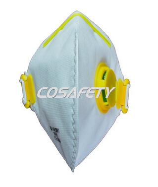Vertical fold flat face mask