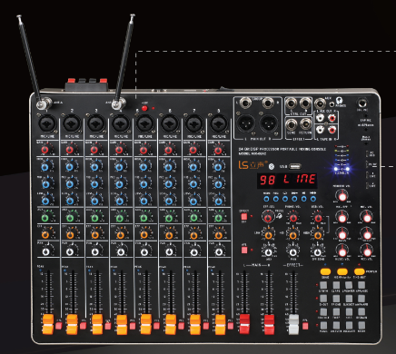 multi functional mixer for outdoor home audio