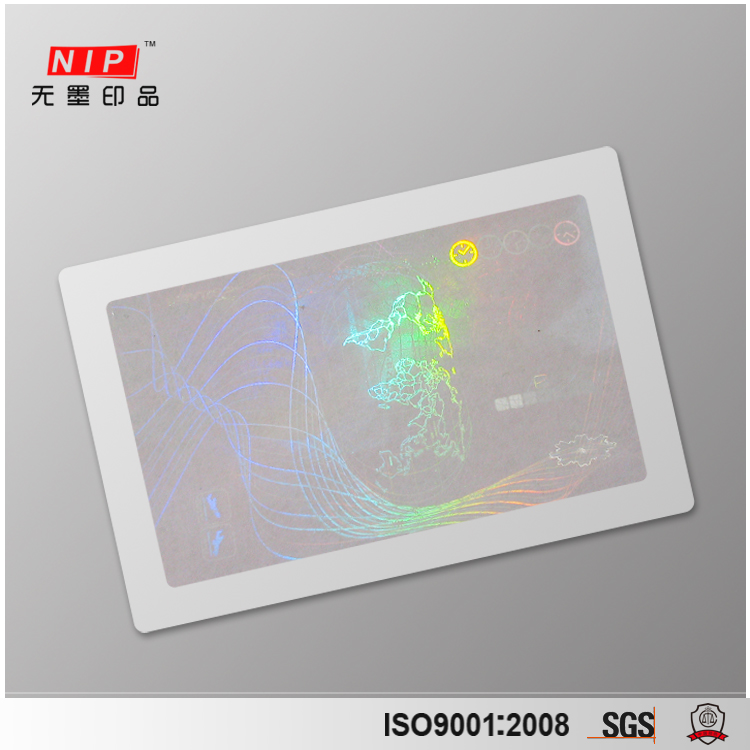 Custom Id Card Hologram Overlay with UV Fluorescent Printing