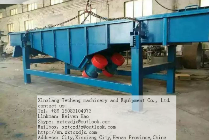 linear carbon steel vibrating screen for silicon sand
