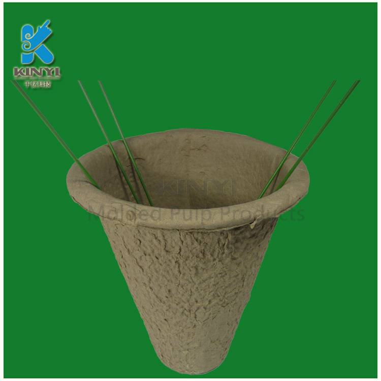 Recycled paper pulp, composatable flower planters, nusrery pots