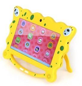 """7"""" 8GB Android 4.4 KitKat Dual Core Dual Cam Cute Cartoon Kids Babypad Tablet"""