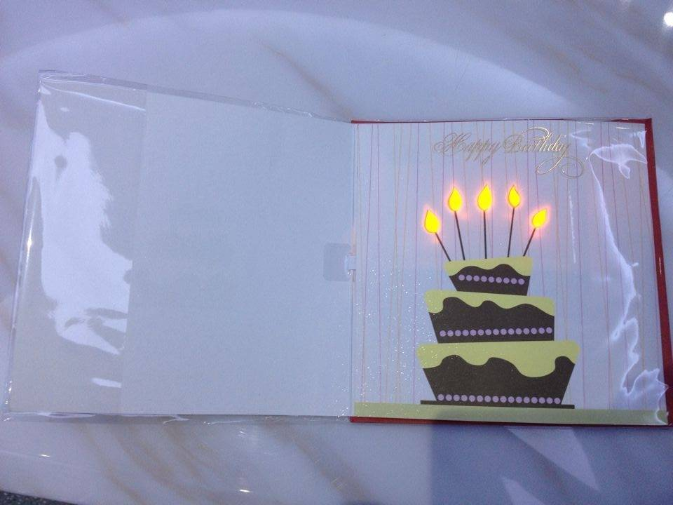 Beautiful musical greeting card for birthday gift