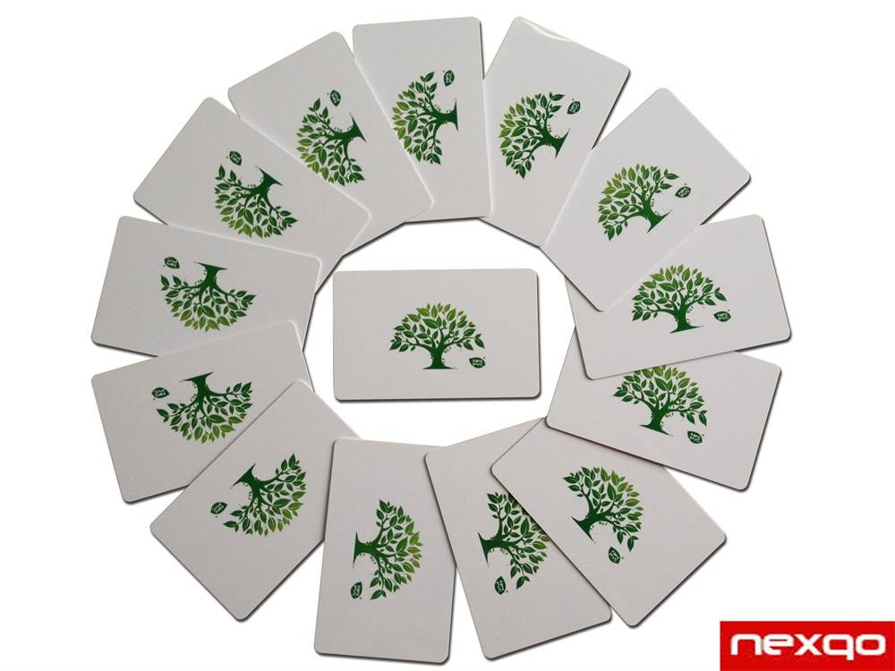 Customized craft and size green Bio PVC card