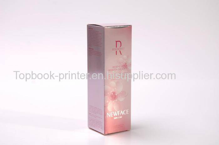Custom pearl-smooth card paper silver stamping emulsion packaging box
