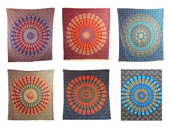 Handicrunch | Traditional Indian Mandala  Wall Decor Tapestry