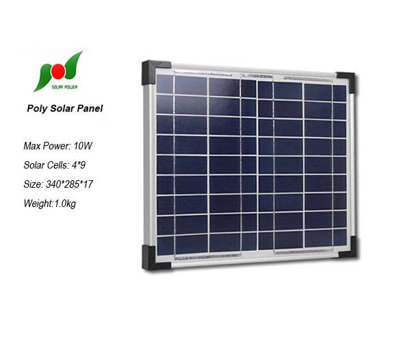 10W 18V Poly solar panel in China for home solar power system