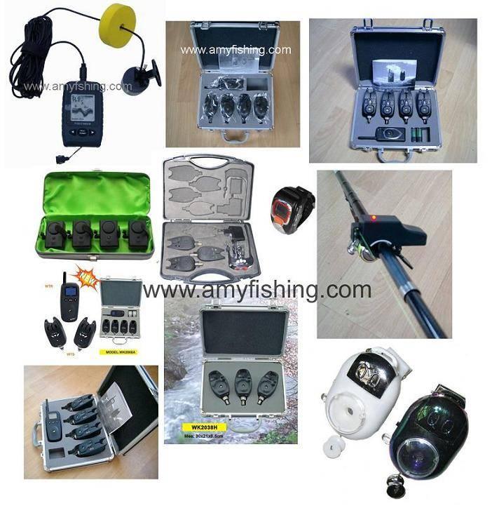 fishing air pump, bite alarm, fish finder