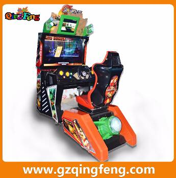 Qingfeng GTI coin operated driving simulator car racing machine