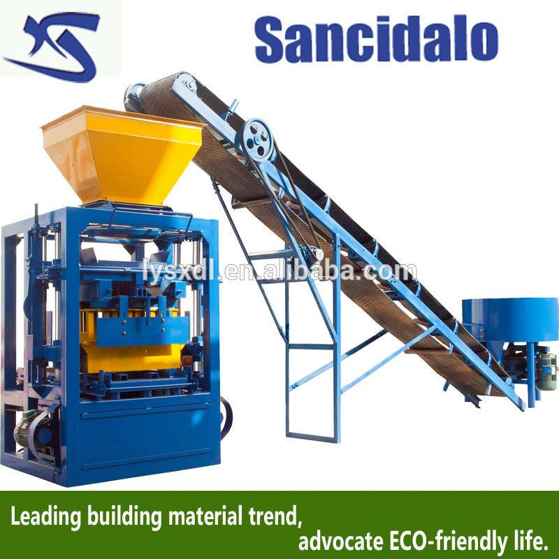 QT4-26 motor vibration cement brick making machine