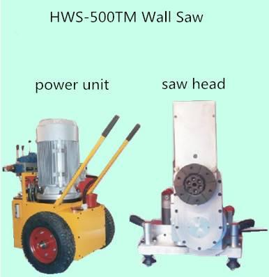 HWS-500TM hydraulic wall saw machine for cutting concrete
