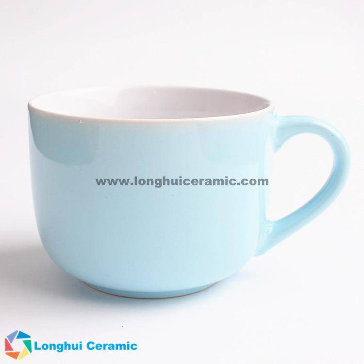 26oz Custom beautiful color jumbo ceramic cup