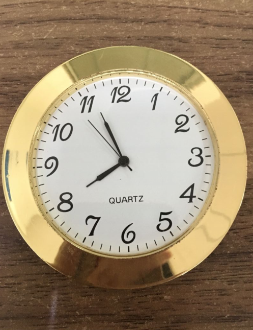 65mm mini insert clock gold arabic metal insert clock