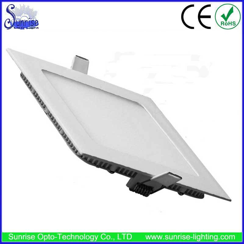 12W slim square recessed LED ceiling light