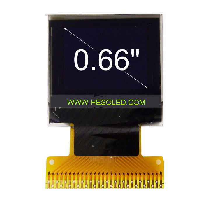 0.66 inch OLED Module monochrome white blue red PMOLED manufacturer