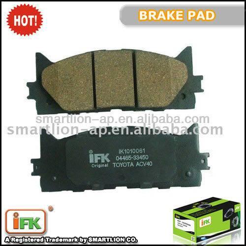 GDB3429 04465-33450 04465-33440 TToyota Camry ACV40 ISO TS16949 brake pad maker