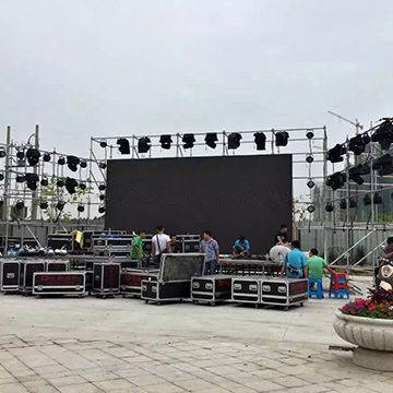 DGX outdoor rental LED screen for performance stage