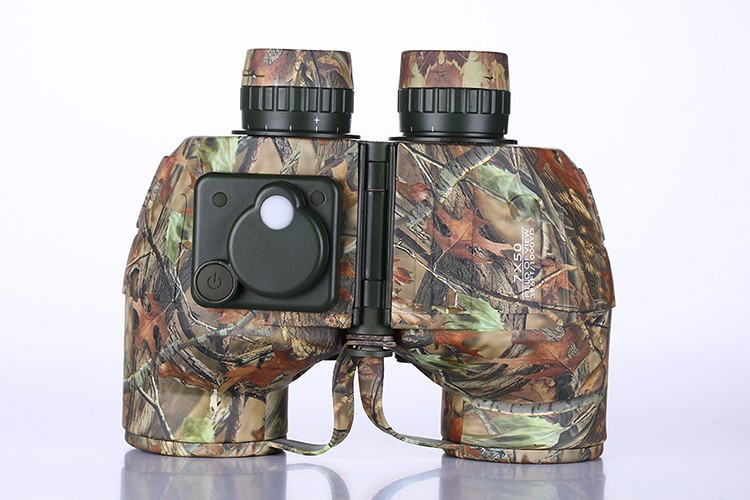 Compact Military Porro Rangfinder Binocular with Compass