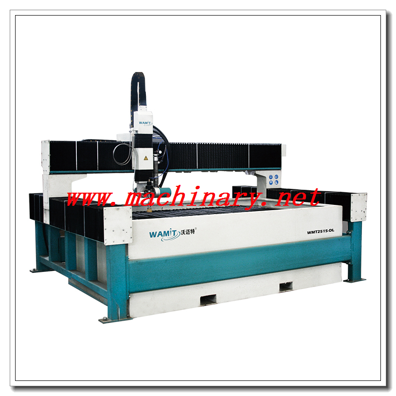 WMT2515-ZDL high pressure 420mpa cnc 5 axis water jet cutting machine for marble medallion, granite