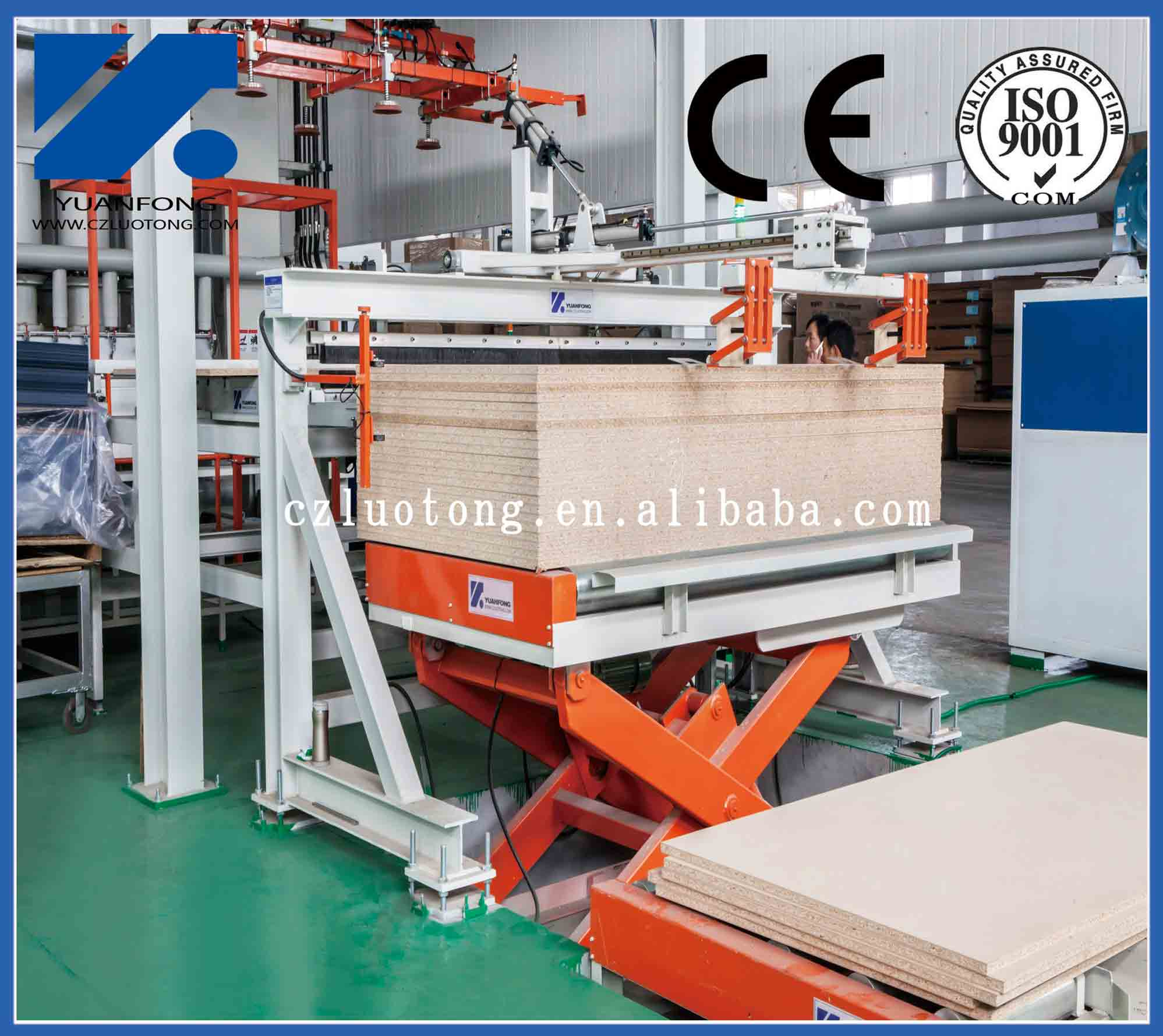 58ft 2400T furniture boards short cycle melamine press line