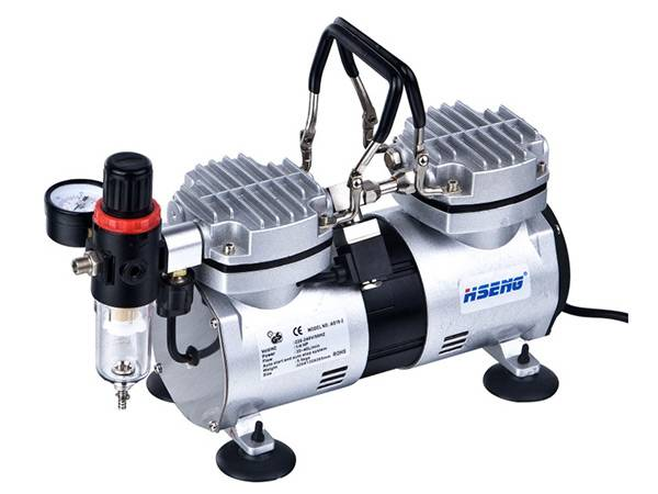 Haosheng Double Cylinder airbrush Compressor AS19