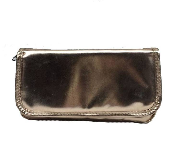 Golden bling rectangle fashion cosmetic bag for cheap