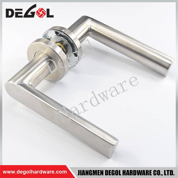 Latest stainless steel solid lever decorative brass door handles